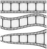 Jogo de três Filmstrips Fotos de Stock Royalty Free