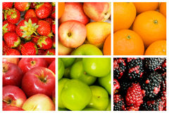 Jogo de várias frutas Fotografia de Stock Royalty Free