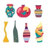 Jogo de vasos modernos Imagens de Stock