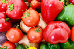 Jogo de vegetais diferentes imagens de stock