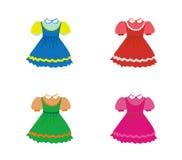 Jogo de vestidos das crianças ilustração royalty free