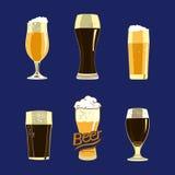 Jogo de vidros de cerveja Imagem de Stock