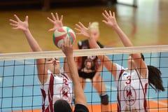 Jogo de voleibol das mulheres de Kaposvar - de Veszprem Fotos de Stock Royalty Free
