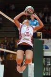Jogo de voleibol das mulheres de Kaposvar - de Veszprem Imagens de Stock Royalty Free