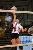 Jogo de voleibol das mulheres de Kaposvar - de Veszprem Foto de Stock