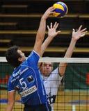 Jogo de voleibol de Kaposvar - de Innsbruck Imagem de Stock