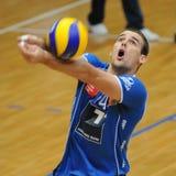 Jogo de voleibol de Kaposvar - de Innsbruck Imagens de Stock Royalty Free
