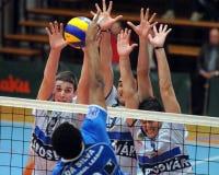 Jogo de voleibol de Kaposvar - de Innsbruck Fotografia de Stock
