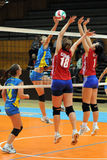 Jogo de voleibol de Kaposvar - de Szolnok imagens de stock