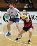 Jogo de voleibol de Kaposvar - de Wien imagem de stock