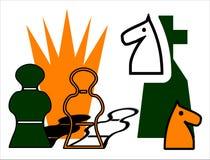 Jogo de xadrez ilustração stock