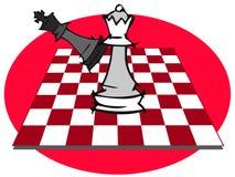 Jogo de xadrez, checkmate ilustração do vetor
