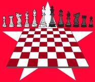 Jogo de xadrez, checkmate ilustração stock
