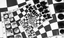 Jogo de xadrez da infinidade Fotografia de Stock