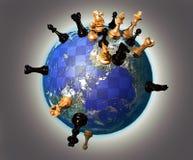 Jogo de xadrez da terra Foto de Stock Royalty Free