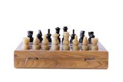 Jogo de xadrez isolado Fotografia de Stock Royalty Free