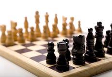 Jogo de xadrez no fundo branco Foto de Stock Royalty Free