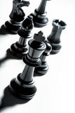 Jogo de xadrez ou partes de xadrez Imagem de Stock