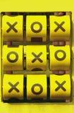 Jogo de XO Fotos de Stock Royalty Free