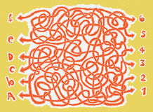 Jogo desenhado mão do labirinto de ABC Fotos de Stock