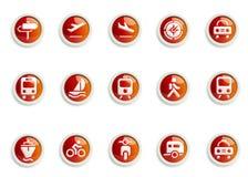Jogo do ícone Fotografia de Stock