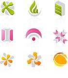 Jogo do ícone ilustração stock