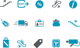 Jogo do ícone da alameda Imagens de Stock