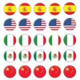 Jogo do ícone da bandeira Imagem de Stock