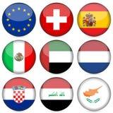 Jogo do ícone da bandeira nacional   ilustração stock