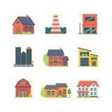 Jogo do ícone da casa Imagem de Stock Royalty Free