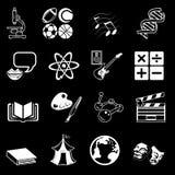 Jogo do ícone da categoria sujeita Imagem de Stock