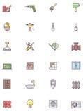 Jogo do ícone da construção Imagens de Stock