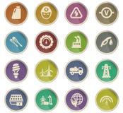 Jogo do ícone da energia alternativa Fotos de Stock