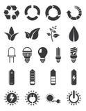 Jogo do ícone da energia da ecologia Foto de Stock Royalty Free