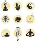 Jogo do ícone da espiritualidade Fotos de Stock Royalty Free