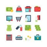 Jogo do ícone da finança Fotografia de Stock