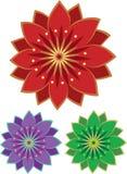 Jogo do ícone da flor Fotografia de Stock Royalty Free