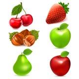 Jogo do ícone da fruta Foto de Stock