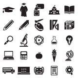 Jogo do ícone da instrução Foto de Stock