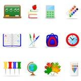 Jogo do ícone da instrução Fotografia de Stock Royalty Free