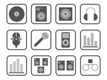 Jogo do ícone da música Imagens de Stock