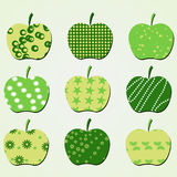 Jogo do ícone da maçã Foto de Stock Royalty Free
