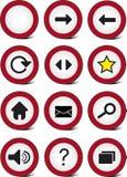 Jogo do ícone da navegação do Web do tráfego Fotografia de Stock Royalty Free