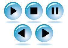 Jogo do ícone da navegação dos multimédios Foto de Stock Royalty Free