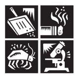Jogo do ícone da pesquisa da alergia ilustração royalty free
