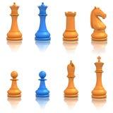 Jogo do ícone da xadrez Fotografia de Stock Royalty Free
