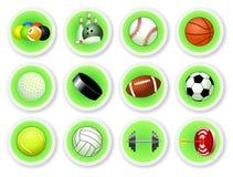 Jogo do ícone das esferas do esporte Fotos de Stock Royalty Free