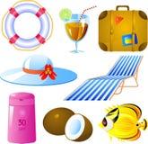Jogo do ícone das férias Imagem de Stock