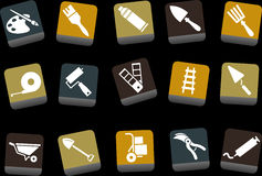 Jogo do ícone das ferramentas Imagens de Stock Royalty Free
