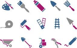 Jogo do ícone das ferramentas Imagem de Stock Royalty Free